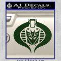 Transformers Cobra Decal Sticker Hybrid Dark Green Vinyl 120x120