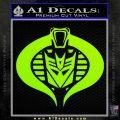Transformers Cobra Decal Sticker Hybrid Lime Green Vinyl 120x120