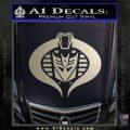 Transformers Cobra Decal Sticker Hybrid Metallic Silver Emblem 120x120