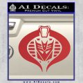 Transformers Cobra Decal Sticker Hybrid Red 120x120