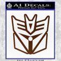 Transformers Decepticon Cylon Battlestar Galactica Mashup D1 Decal Sticker BROWN Vinyl 120x120