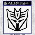 Transformers Decepticon Cylon Battlestar Galactica Mashup D1 Decal Sticker Black Vinyl 120x120