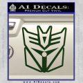 Transformers Decepticon Cylon Battlestar Galactica Mashup D1 Decal Sticker Dark Green Vinyl 120x120