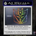 Transformers Decepticon Cylon Battlestar Galactica Mashup D1 Decal Sticker Glitter Sparkle 120x120