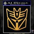 Transformers Decepticon Cylon Battlestar Galactica Mashup D1 Decal Sticker Gold Vinyl 120x120