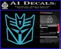 Transformers Decepticon Cylon Battlestar Galactica Mashup D1 Decal Sticker Light Blue Vinyl 120x97