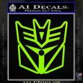 Transformers Decepticon Cylon Battlestar Galactica Mashup D1 Decal Sticker Lime Green Vinyl 120x120