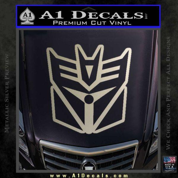 Transformers Decepticon Cylon Battlestar Galactica Mashup D1 Decal Sticker Metallic Silver Emblem