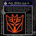 Transformers Decepticon Cylon Battlestar Galactica Mashup D1 Decal Sticker Orange Emblem 120x120