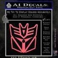 Transformers Decepticon Cylon Battlestar Galactica Mashup D1 Decal Sticker Pink Emblem 120x120
