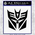 Transformers Decepticon Cylon Battlestar Galactica Mashup D2 Decal Sticker Black Vinyl 120x120