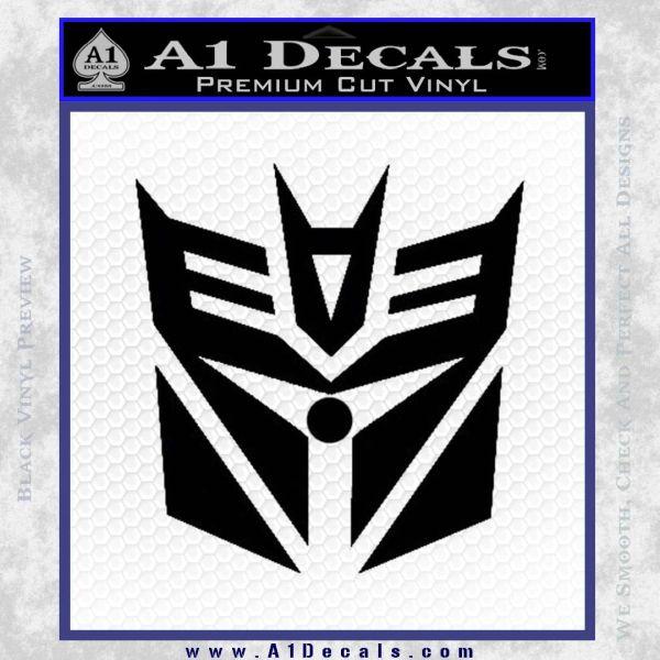 Transformers Decepticon Cylon Battlestar Galactica Mashup D2 Decal Sticker Black Vinyl