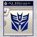 Transformers Decepticon Cylon Battlestar Galactica Mashup D2 Decal Sticker Blue Vinyl 120x120