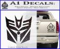 Transformers Decepticon Cylon Battlestar Galactica Mashup D2 Decal Sticker Carbon FIber Black Vinyl 120x97