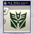 Transformers Decepticon Cylon Battlestar Galactica Mashup D2 Decal Sticker Dark Green Vinyl 120x120