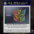 Transformers Decepticon Cylon Battlestar Galactica Mashup D2 Decal Sticker Glitter Sparkle 120x120