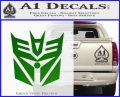 Transformers Decepticon Cylon Battlestar Galactica Mashup D2 Decal Sticker Green Vinyl Logo 120x97