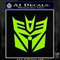 Transformers Decepticon Cylon Battlestar Galactica Mashup D2 Decal Sticker Lime Green Vinyl 120x120