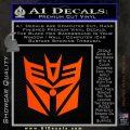 Transformers Decepticon Cylon Battlestar Galactica Mashup D2 Decal Sticker Orange Emblem 120x120