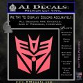 Transformers Decepticon Cylon Battlestar Galactica Mashup D2 Decal Sticker Pink Emblem 120x120