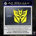 Transformers Decepticon Cylon Battlestar Galactica Mashup D2 Decal Sticker Yellow Laptop 120x120