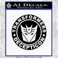 Transformers Decepticon Decal Sticker Full Emblem Black Vinyl 120x120