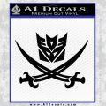 Transformers Decepticon Pirate Decal Sticker Black Vinyl 120x120