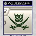 Transformers Decepticon Pirate Decal Sticker Dark Green Vinyl 120x120
