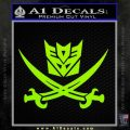 Transformers Decepticon Pirate Decal Sticker Lime Green Vinyl 120x120