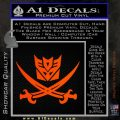 Transformers Decepticon Pirate Decal Sticker Orange Emblem 120x120