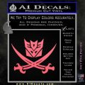 Transformers Decepticon Pirate Decal Sticker Pink Emblem 120x120