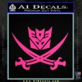 Transformers Decepticon Pirate Decal Sticker Pink Hot Vinyl 120x120