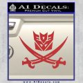 Transformers Decepticon Pirate Decal Sticker Red 120x120