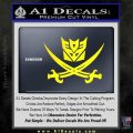 Transformers Decepticon Pirate Decal Sticker Yellow Laptop 120x120