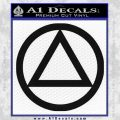 Alcoholics Anonymous AA Decal Sticker C T Black Vinyl 120x120