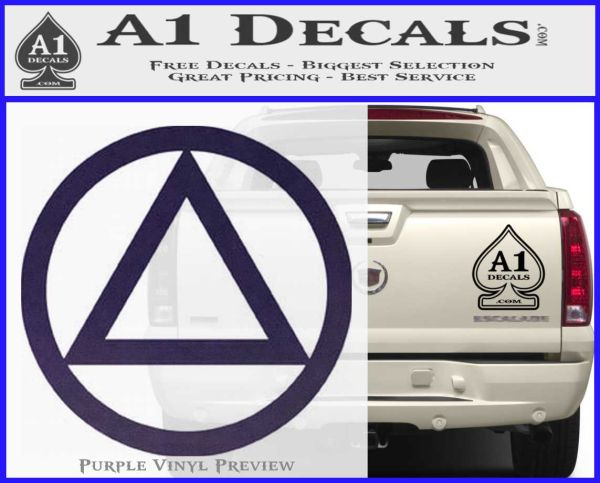 Alcoholics Anonymous Aa Decal Sticker C T 187 A1 Decals
