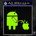 Android Pissing On Apple Decal Sticker D2 Lime Green Vinyl 120x120