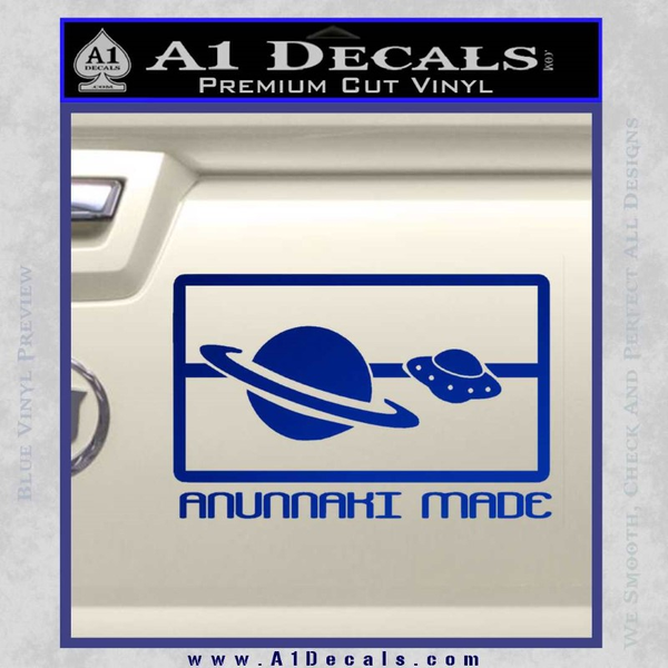 Anunnaki Made Flag Decal Sticker UFO Alien Coast to Coast AM » A1 Decals