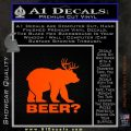 Bear Hunting Decal Sticker Beer Orange Emblem 120x120