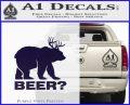 Bear Hunting Decal Sticker Beer PurpleEmblem Logo 120x97