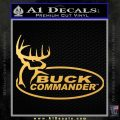 Buck Commander Full Decal Sticker Gold Vinyl 120x120