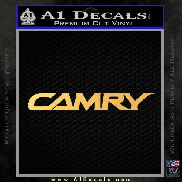 Camry Decal Sticker Toyota Gold Vinyl