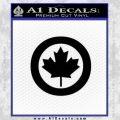 Canada Decal Sticker Black Vinyl 120x120