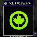 Canada Decal Sticker Lime Green Vinyl 120x120