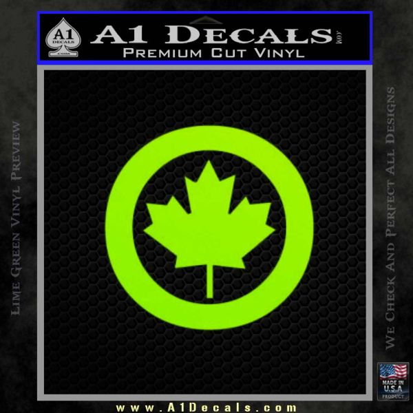 Canada Decal Sticker CR A Decals - Vinyl decal stickers canada