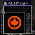 Canada Decal Sticker Orange Emblem 120x120