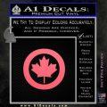 Canada Decal Sticker Pink Emblem 120x120