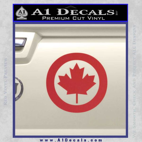 Canada Decal Sticker Red