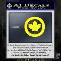 Canada Decal Sticker Yellow Laptop 120x120
