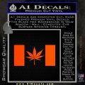 Canada Oh Cannabis Decal Sticker Orange Emblem 120x120